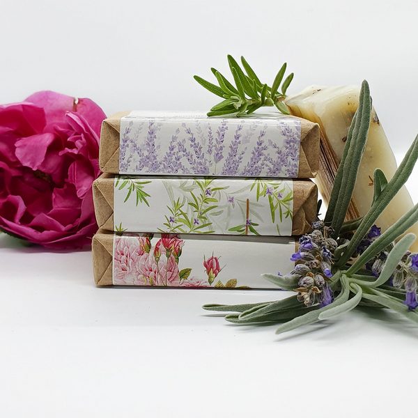 Natural Soap Collection - ROSE + ROSEMARY + LAVENDER - All Natural