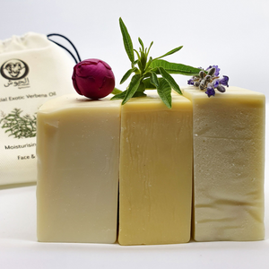 Oil Moisturising Soap Collection - ROSE + VERBENA + LAVENDER - All Natural