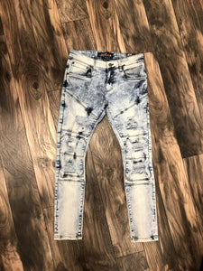 Jeans w/Rips Slim Fit