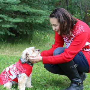 Classic Christmas Matching Pet and Owner Christmas Sweaters