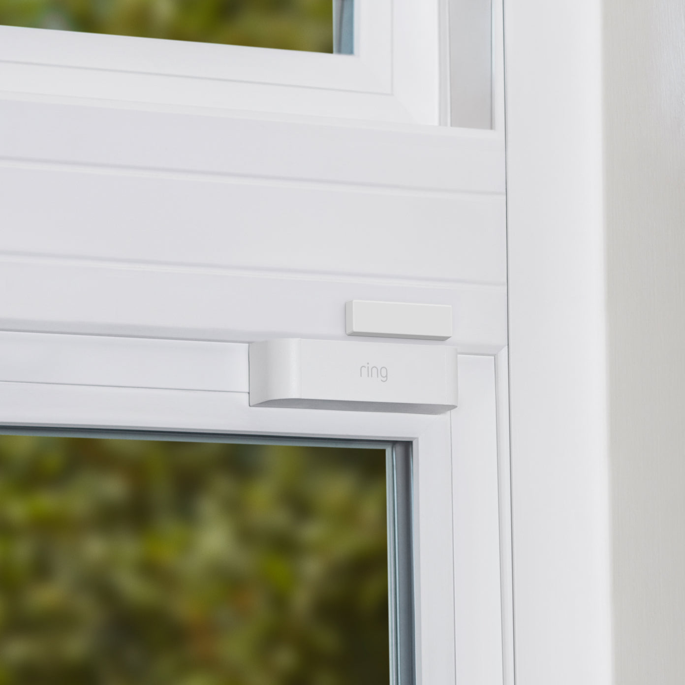 Window frame with Open Window Slim Magnet attached.