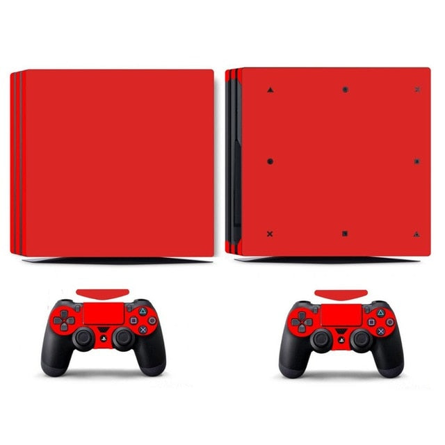 LIMITED EDITION PS4 PRO VINYL SKIN BUNDLE IN RED