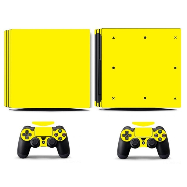 LIMITED EDITION PS4 PRO VINYL SKIN BUNDLE IN YELLOW