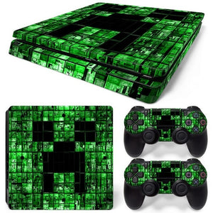 PS4 SLIM LIMITED EDITION VINYL SKIN BUNDLE GREEN