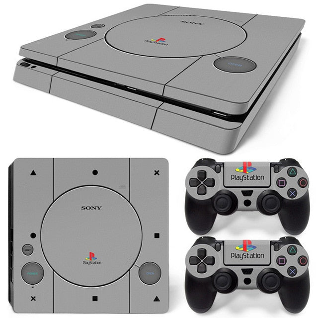 PS4 SLIM LIMITED EDITION VINYL SKIN BUNDLE RETRO PS1