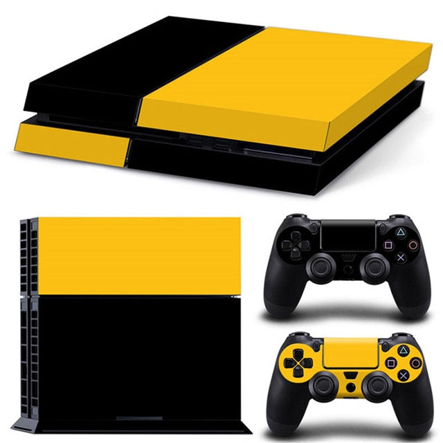 LIMITED EDITION PS4 VINYL SKIN BUNDLE IN BLACK & YELLOW