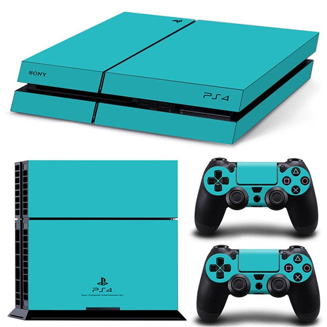 LIMITED EDITION PS4 VINYL SKIN BUNDLE IN CYAN