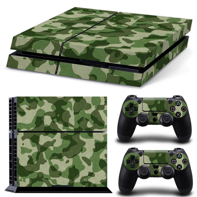 PS4 VINYL SKIN BUNDLE IN GREEN CAMO