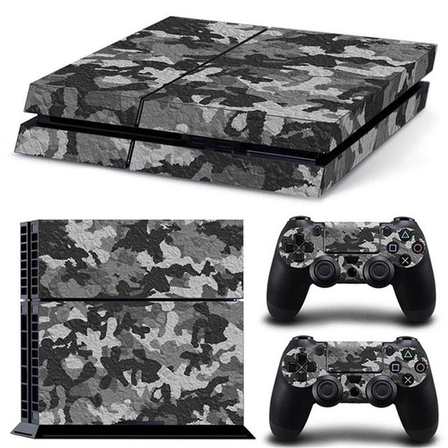 PS4 VINYL SKIN BUNDLE IN GREY CAMO