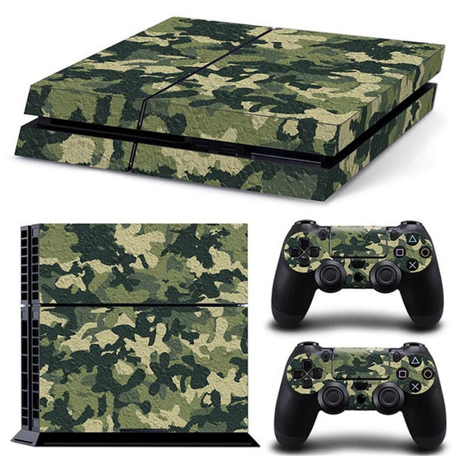 PS4 VINYL SKIN BUNDLE IN BROWN CAMO