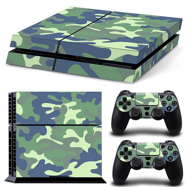 PS4 VINYL SKIN BUNDLE IN CYAN CAMO