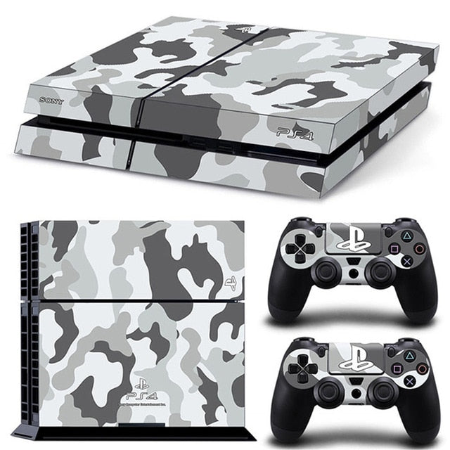 PS4 VINYL SKIN BUNDLE IN WHITE CAMO