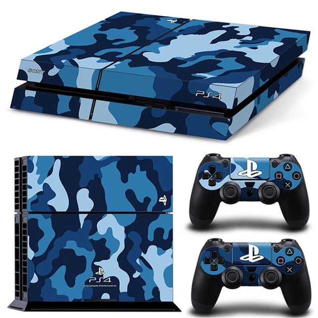 PS4 VINYL SKIN BUNDLE IN BLUE CAMO