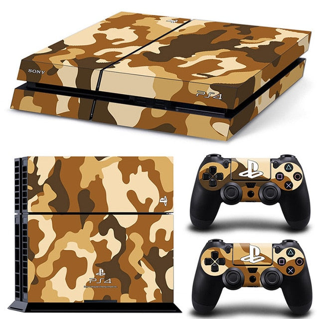 PS4 VINYL SKIN BUNDLE IN ORANGE CAMO