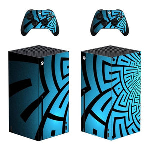XBOX Series X SIGNATURE Blue Tribal Skin