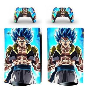 PS5 STANDARD DISC EDITION SKIN DRAGON BALL BLUE