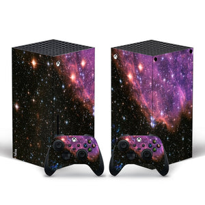 XBOX Series X Purple Galaxy Skin