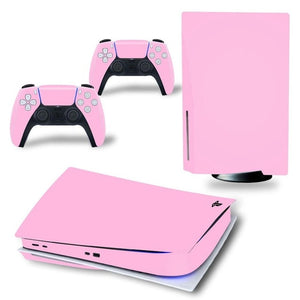 PS5 DISC EDITION VINYL SKIN BUNDLE IN LIGHT PINK