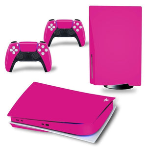 PS5 DISC EDITION VINYL SKIN BUNDLE IN PINK