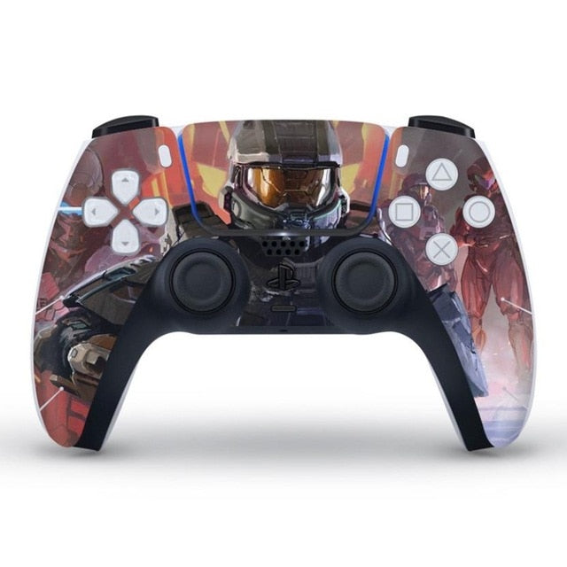 PS5 CONTROLLER LIMITED EDITION SKIN IN HALO