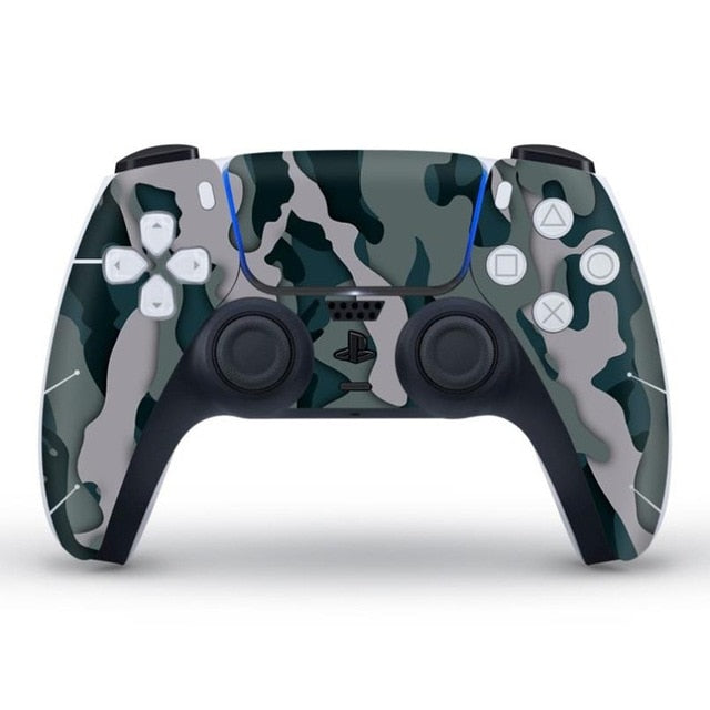 PS5 CONTROLLER LIMITED EDITION SKIN IN GREY CAMO