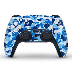 PS5 CONTROLLER LIMITED EDITION SKIN IN BLUE CAMO