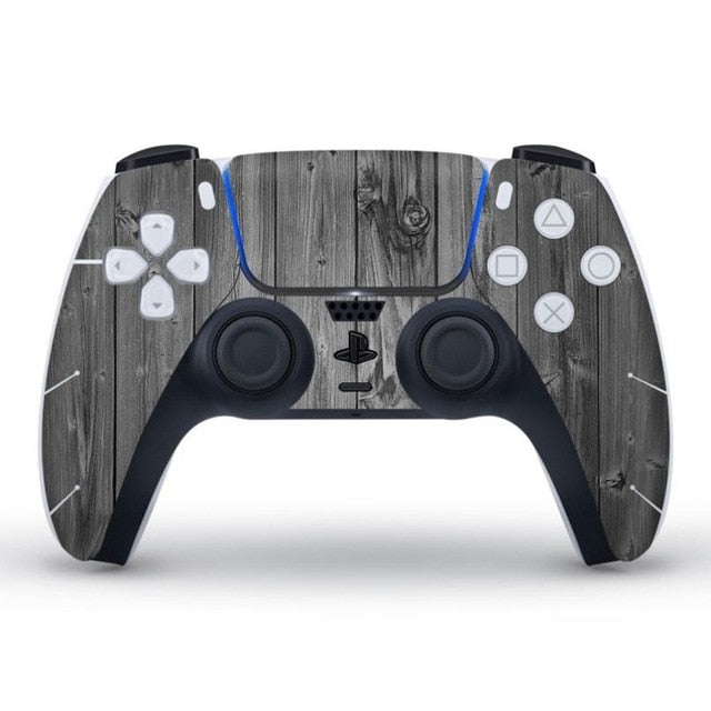 PS5 CONTROLLER LIMITED EDITION SKIN IN GREY WOOD