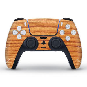 PS5 CONTROLLER LIMITED EDITION SKIN IN HARDWOOD