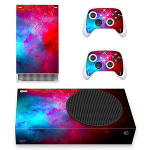 XBOX SERIES S SIGNATURE SKIN IN BLUE & RED GALAXY