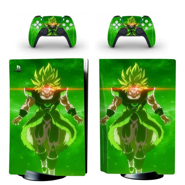 PS5 STANDARD DISC EDITION SKIN DRAGON BALL YELLOW