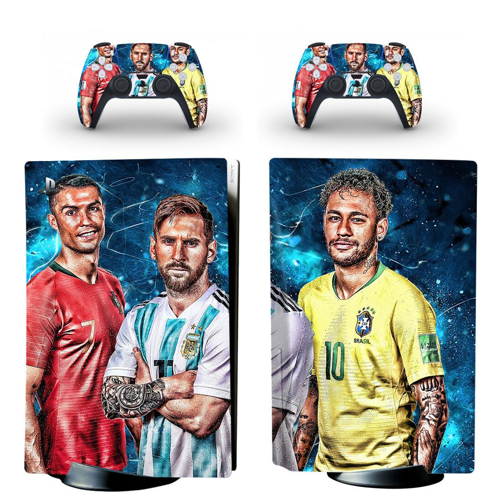 PS5 STANDARD DISC EDITION SKIN RONALDO MESSI NEYMAR