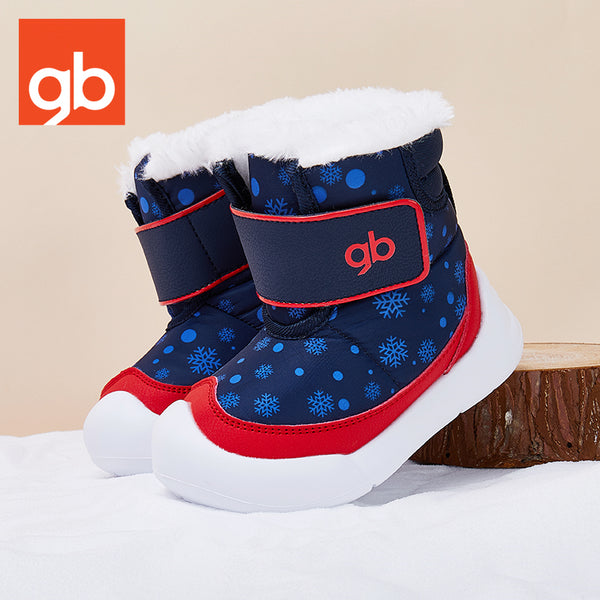 Goodbaby Snow Print Boot With Shearling Navy