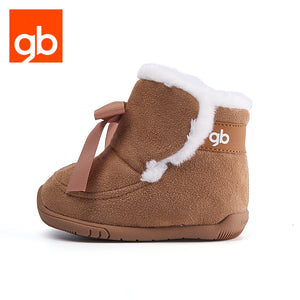 Goodbaby Gita Bow Suede Boots with Shearling Coffee