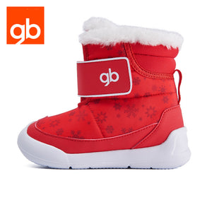 Goodbaby Snow Print Boot With Shearling Red