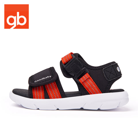Goodbaby Buckle Sandals Black&Red