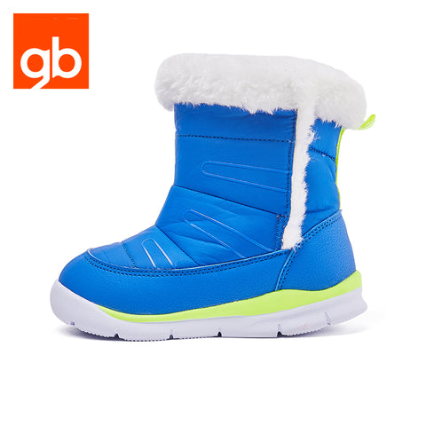 Goodbaby Leather Boots with Shearling Blue