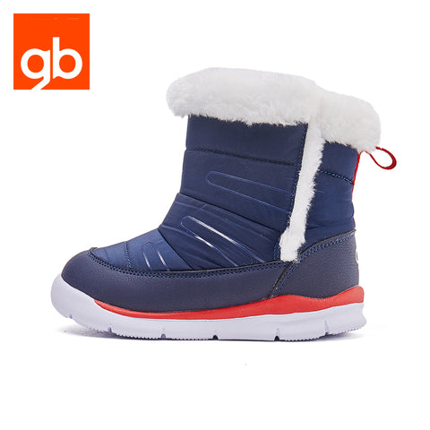 Goodbaby Leather Boots with Shearling Navy
