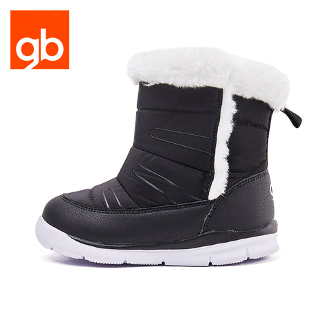 Goodbaby Leather Boots with Shearling Black