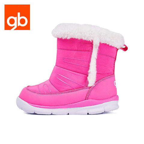 Goodbaby Leather Boots with Shearling Pink