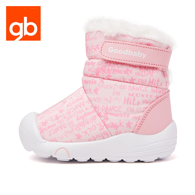 Goodbaby Hightop Scrawl Shearling Boots Pink