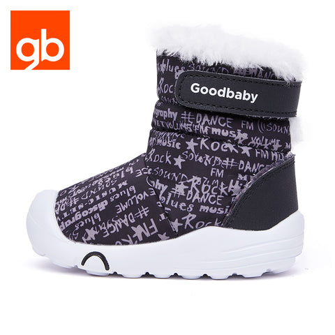 Goodbaby Hightop Scrawl Shearling Boots Black