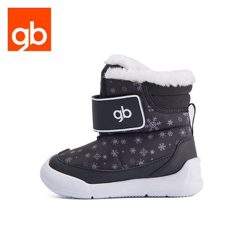 Goodbaby Snow Print Boot With Shearling Black