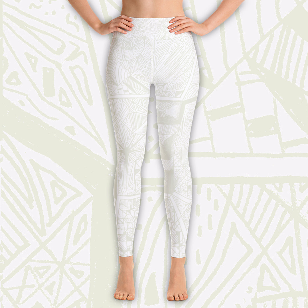 BE Whites - Yoga Leggings - Love & Other Necessities