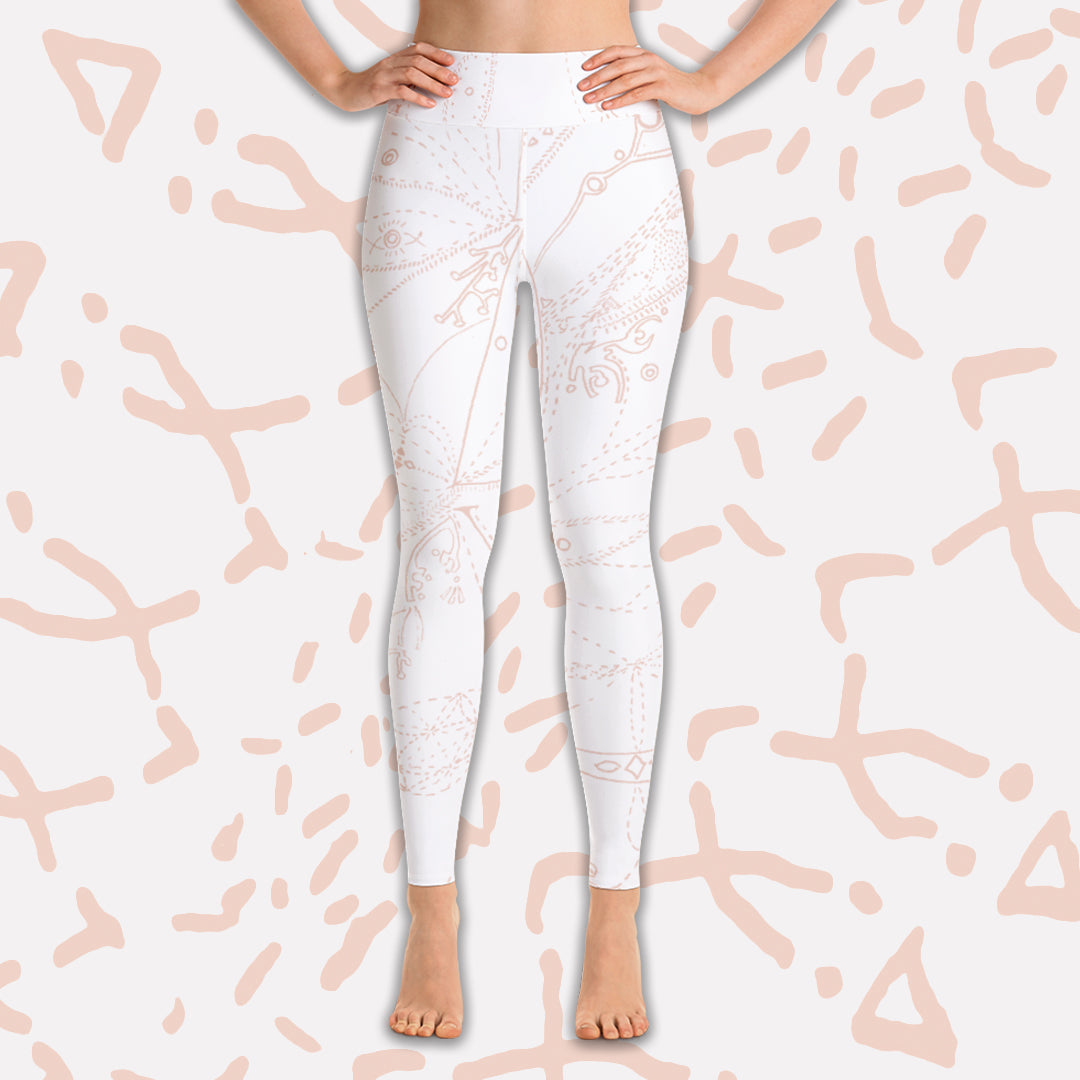 LOVE Whites - Yoga Leggings - Love & Other Necessities