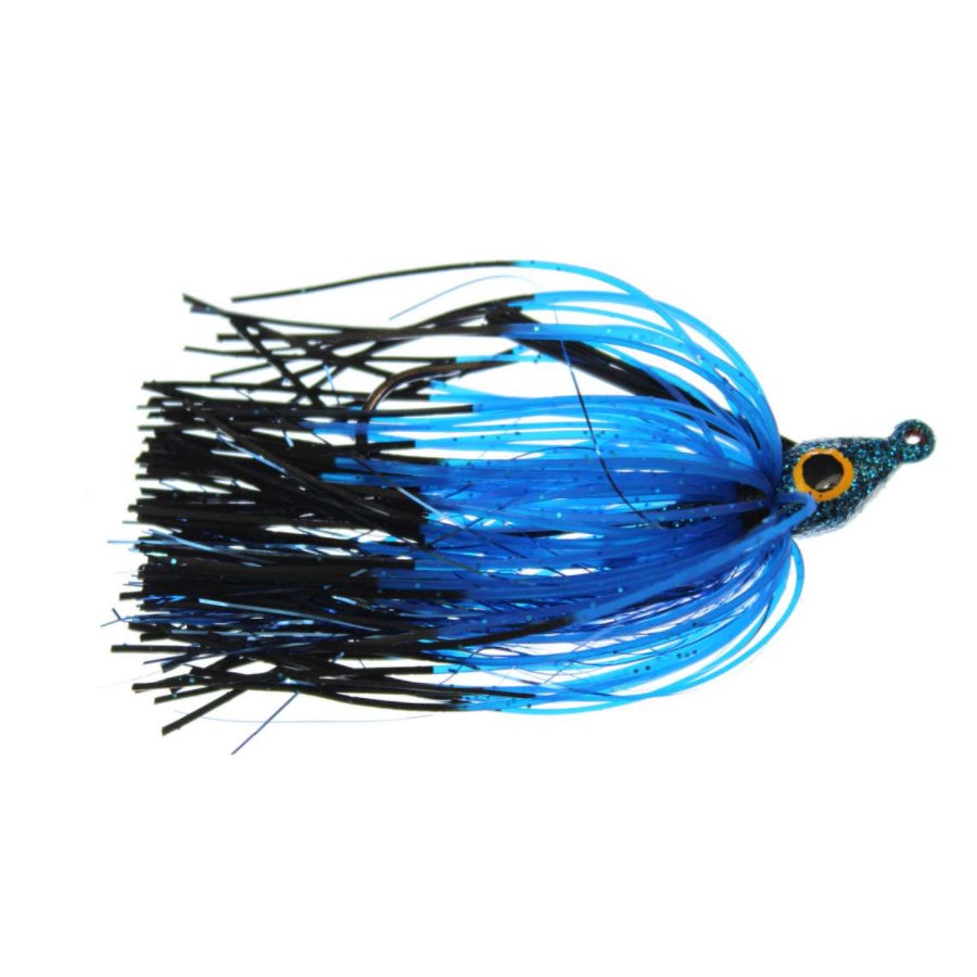Lethal Weapon II Swim Jig 1/4 oz / Black and Blue FT