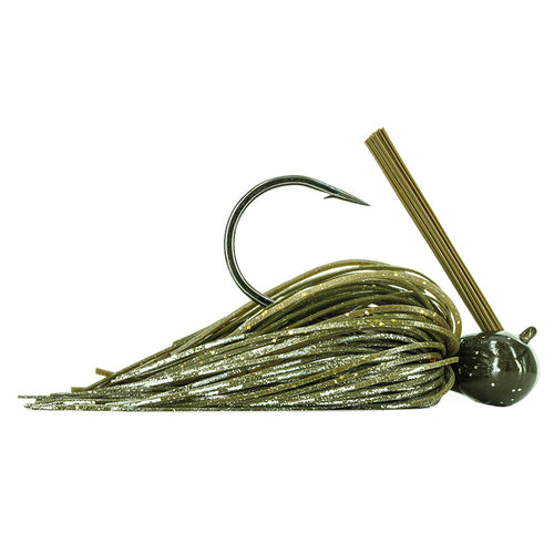 Molix GT Football Jig 3/4 oz / Green Pumpkin Flash