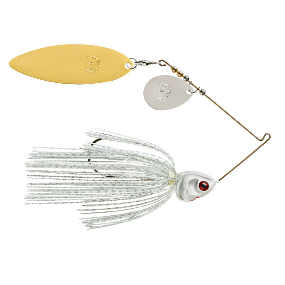 Booyah Covert Colorado Willow Blades Spinnerbait 3/4 oz / White Silver Scale