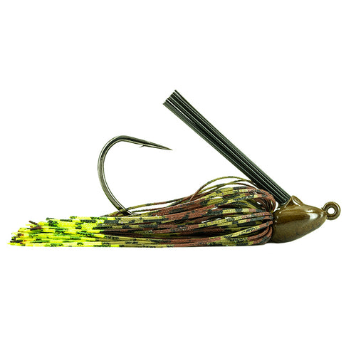 Molix Tenax Wide Gap Flipping Jig 1/2 oz / Green Pumpkin Chart
