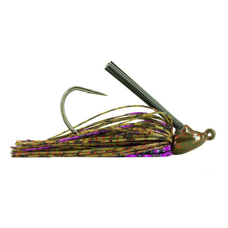 Molix Tenax Wide Gap Flipping Jig 3/8 oz / Green Pumpkin Red/Purple