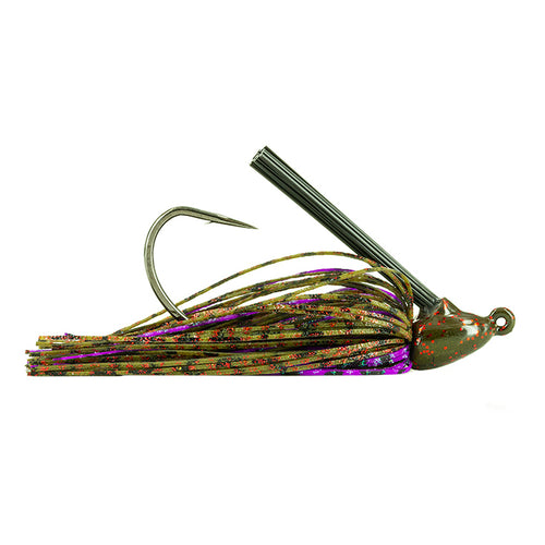 Molix Tenax Wide Gap Flipping Jig 1/2 oz / Green Pumpkin Red/Purple